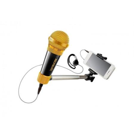 Selfie mikrofón čierny