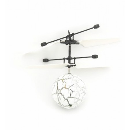 UFO HELI BALL WHITE lietajúce so senzorom