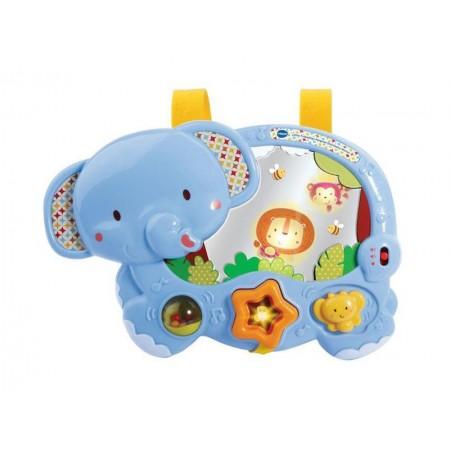Detské piánko slon so zvieratkami TEDDIES so zvukom a svetlom 28 cm