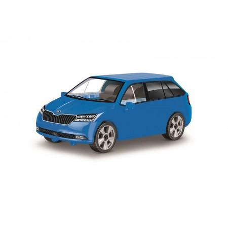 Stavebnica COBI 24571 Škoda Fabia combi model 2019 modrá