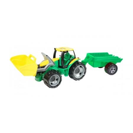 Traktor LENA s lyžicou a prívesom 60 cm