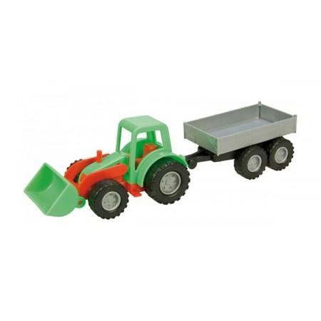 Traktor LENA MINI COMPACT s prívesom 24 cm