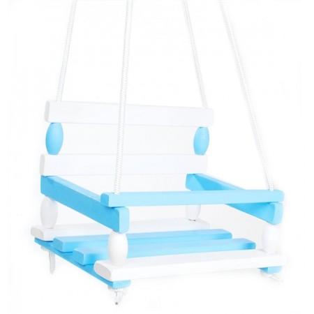 Hojdačka drevená 38 x 30 cm modrá