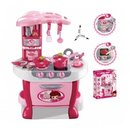 Kuchynka detská G21 malá s príslušenstvom ružová
