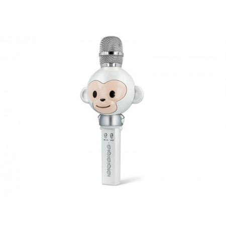 Karaoke mikrofón FOREVER AM-100 opica biely