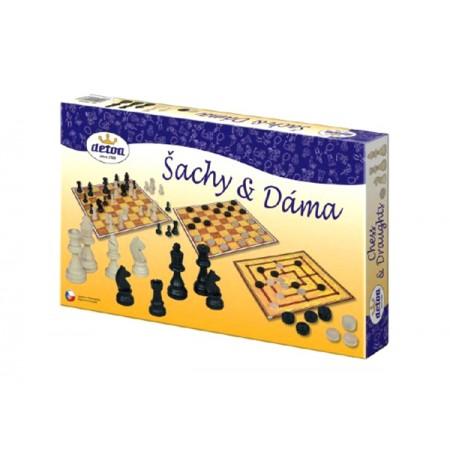 Hra stolná DETOA Šach a dáma