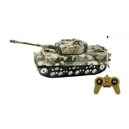 Tank TEDDIES TIGER so zvukom a svetlom 25cm