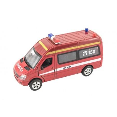 Detské hasičské auto TEDDIES so svetlom a zvukom 15cm