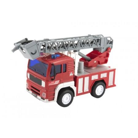Detské hasičské auto na zotrvačník TEDDIES so zvukom a svetlom 20cm