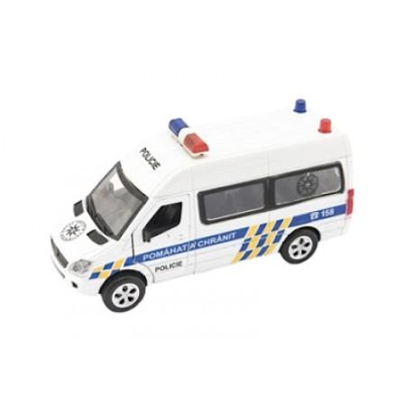 Detské policajné auto TEDDIES so zvukom a svetlom 15cm