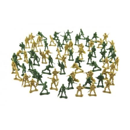 Sada vojakov TEDDIES ARMY I 2 farby CZ dizajn 18x19.5cm