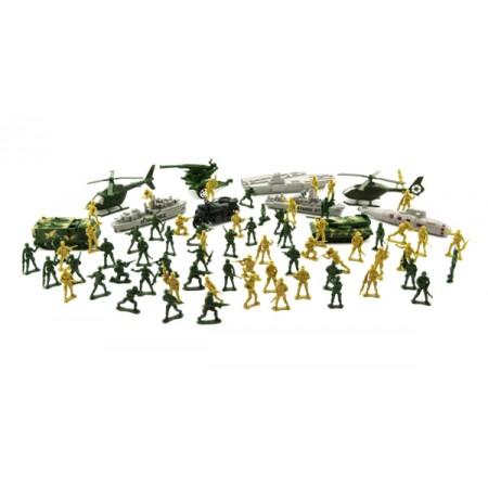 Sada vojakov TEDDIES ARMY II CZ dizajn s príslušenstvom 24x30cm