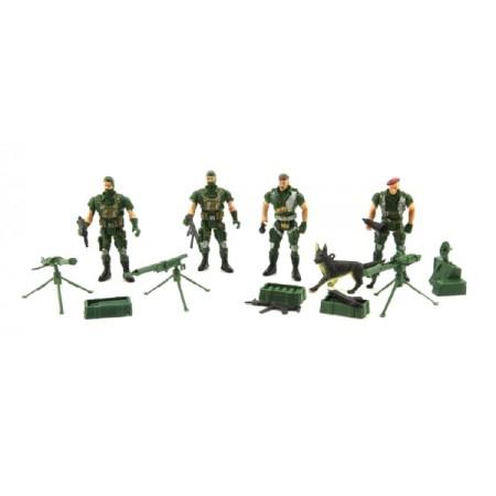 Sada vojakov TEDDIES ARMY CZ dizajn s príslušenstvom 18x19.5cm