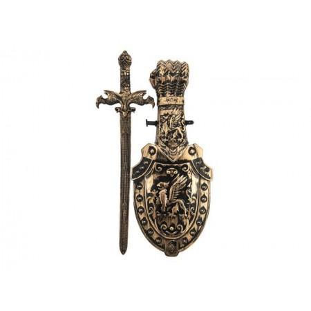 Detský rytiersky meč so štítom TEDDIES 48 cm