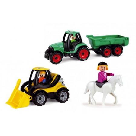 Detský traktor s bagrom LENA TRUCKIES