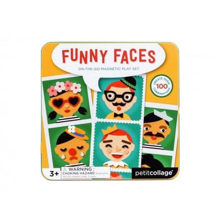 Detské magnetické puzzle PETITCOLLAGE Veselé tváre
