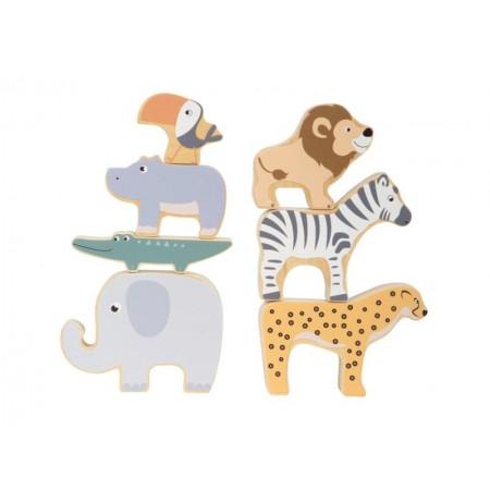 Detské drevené zvieratká SMALL FOOT Safari
