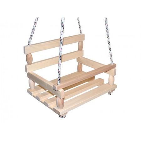 Hojdačka drevená 38x30cm prírodná