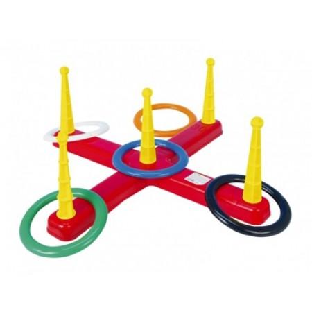 Hra detská kríž s kruhmi 5ks